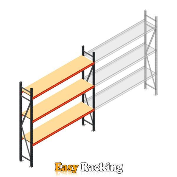 Beginsectie AR grootvakstelling 2000x1850x400 - 3 niveaus