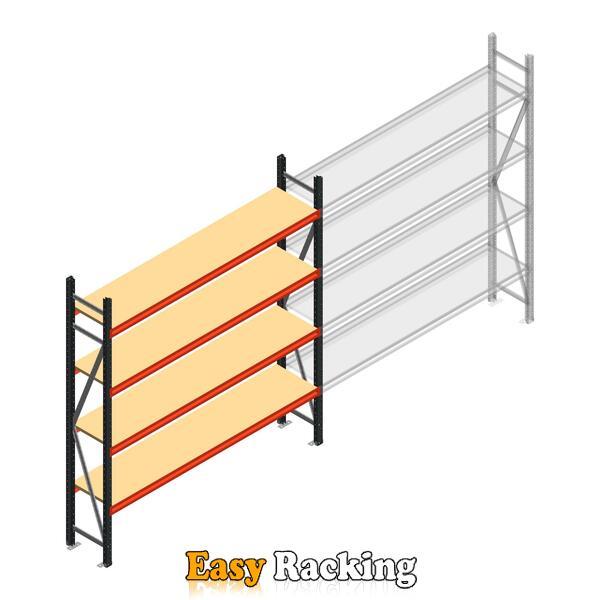 Beginsectie AR grootvakstelling 2000x1850x500 - 4 niveaus