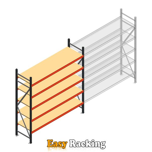 Beginsectie AR grootvakstelling 2000x1850x600 - 5 niveaus