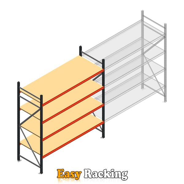 Beginsectie AR grootvakstelling 2000x1850x800 - 4 niveaus