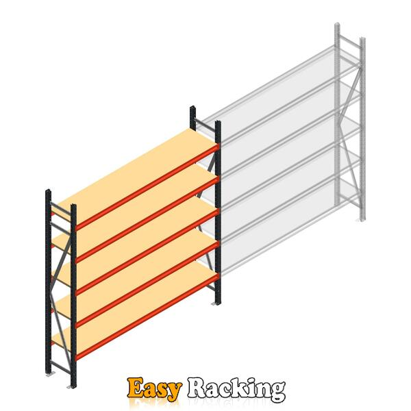 Beginsectie AR grootvakstelling 2000x2250x400 - 5 niveaus