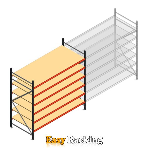 Beginsectie AR grootvakstelling 2000x2700x1000 - 6 niveaus