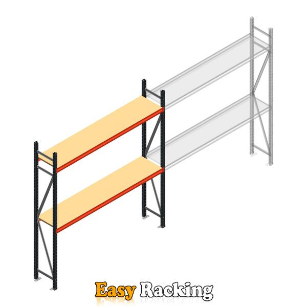 Beginsectie AR grootvakstelling 2250x1850x400 - 2 niveaus