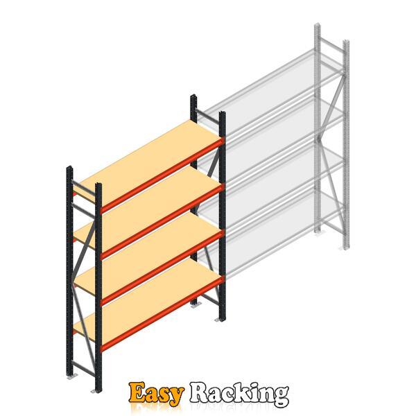 Beginsectie AR grootvakstelling 2500x1500x400 - 4 niveaus