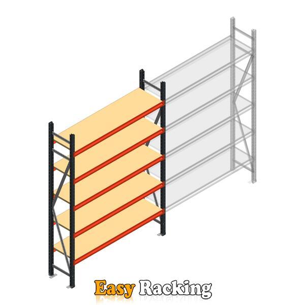 Beginsectie AR grootvakstelling 2500x1500x400 - 5 niveaus