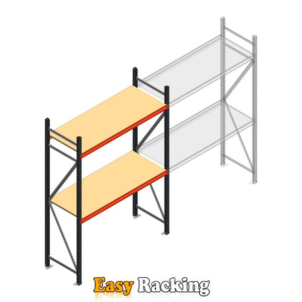 Beginsectie AR grootvakstelling 2500x1500x600 - 2 niveaus