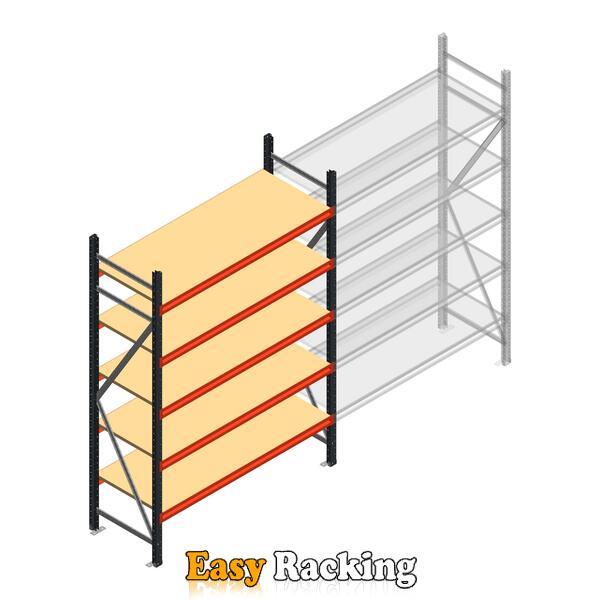 Beginsectie AR grootvakstelling 2500x1500x600 - 5 niveaus