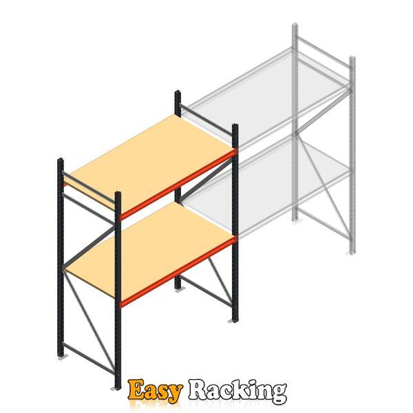 Beginsectie AR grootvakstelling 2500x1500x800 - 2 niveaus