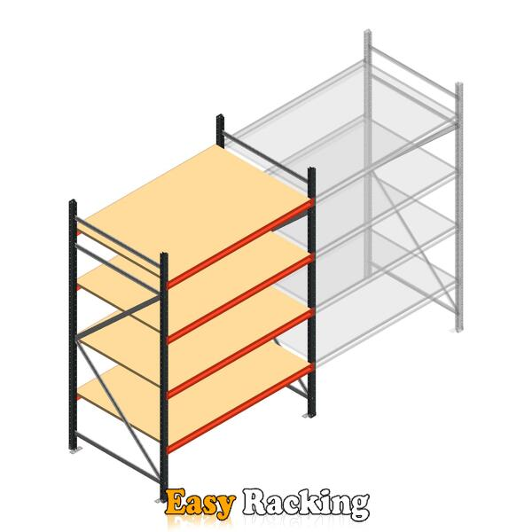 Beginsectie AR grootvakstelling 2500x1500x900 - 4 niveaus