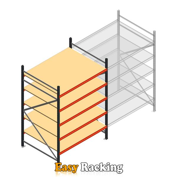 Beginsectie AR grootvakstelling 2500x1610x1200 - 5 niveaus