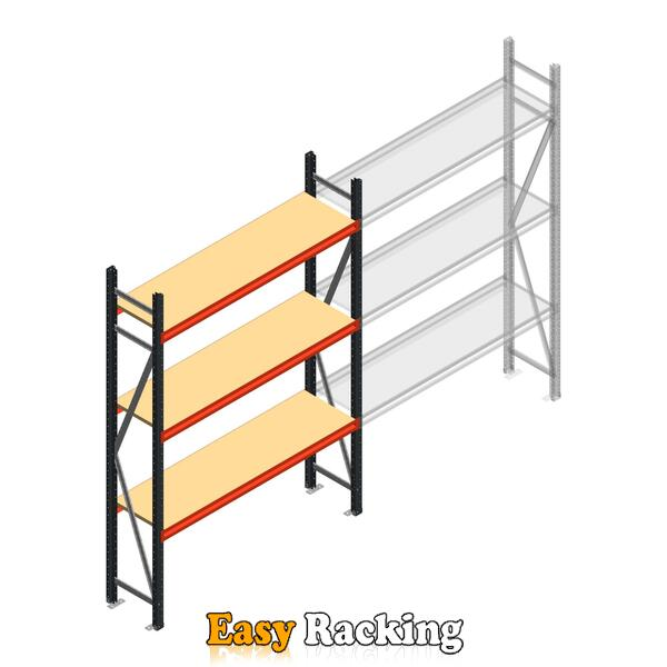 Beginsectie AR grootvakstelling 2500x1610x400 - 3 niveaus
