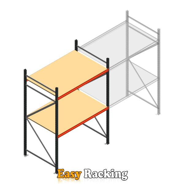Beginsectie AR grootvakstelling 2500x1610x900 - 2 niveaus