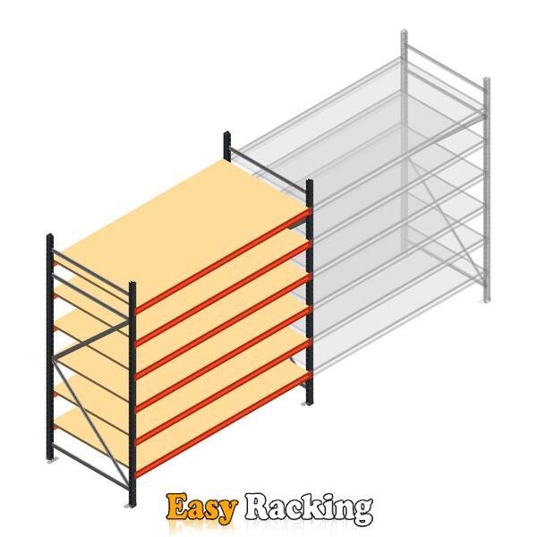 Beginsectie AR grootvakstelling 2500x1850x1000 - 6 niveaus