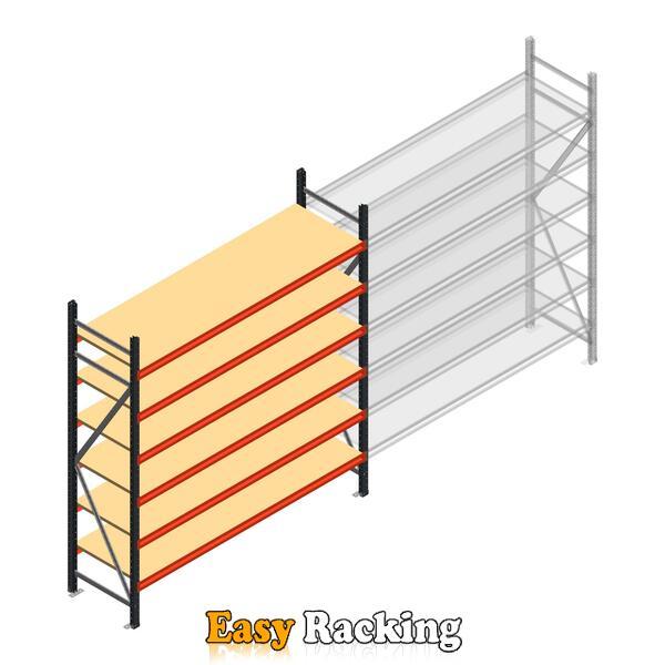Beginsectie AR grootvakstelling 2500x1850x600 - 6 niveaus