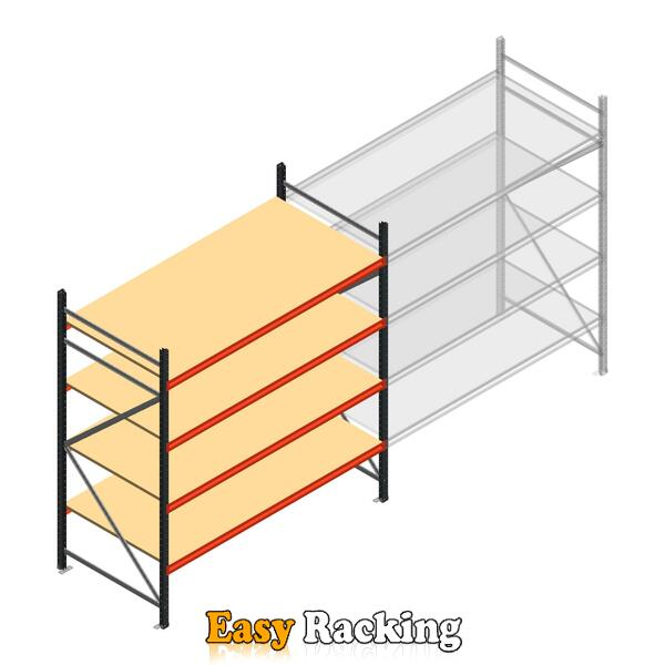 Beginsectie AR grootvakstelling 2500x1850x900 - 4 niveaus