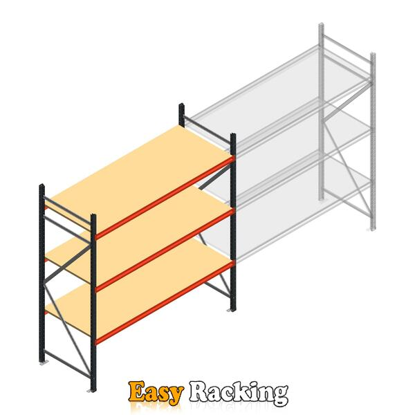 Beginsectie AR grootvakstelling 2500x2010x800 - 3 niveaus