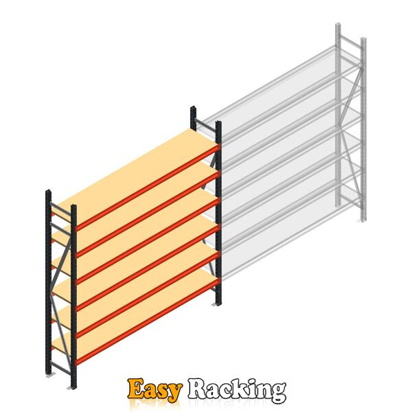 Beginsectie AR grootvakstelling 2500x2250x400 - 6 niveaus