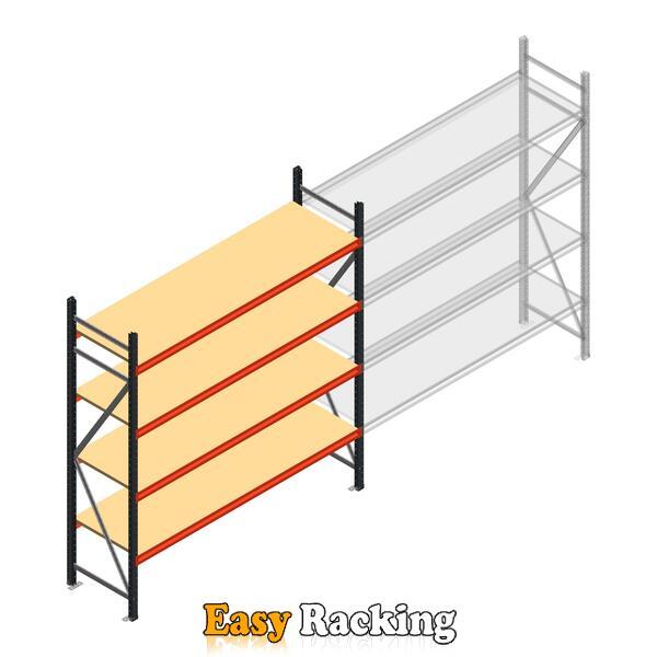 Beginsectie AR grootvakstelling 2500x2250x600 - 4 niveaus