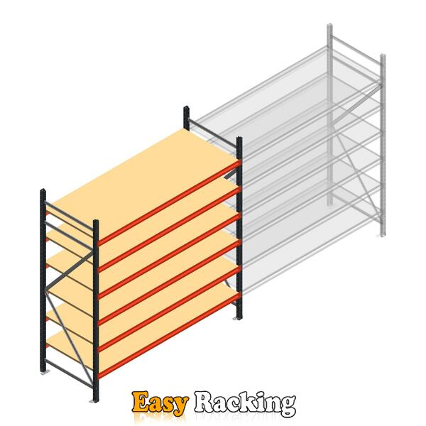 Beginsectie AR grootvakstelling 2500x2250x800 - 6 niveaus