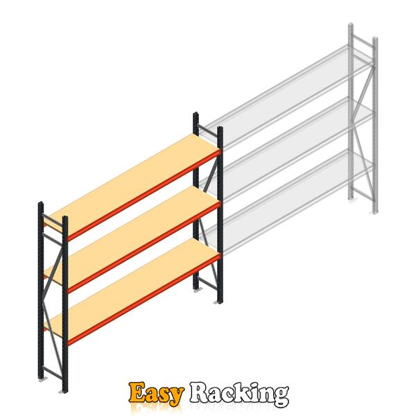 Beginsectie AR grootvakstelling 2500x2700x400 - 3 niveaus