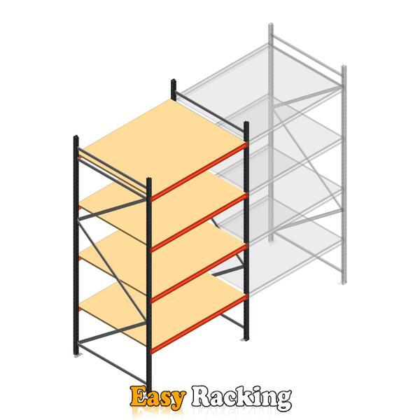 Beginsectie AR grootvakstelling 3000x1500x1200 - 4 niveaus