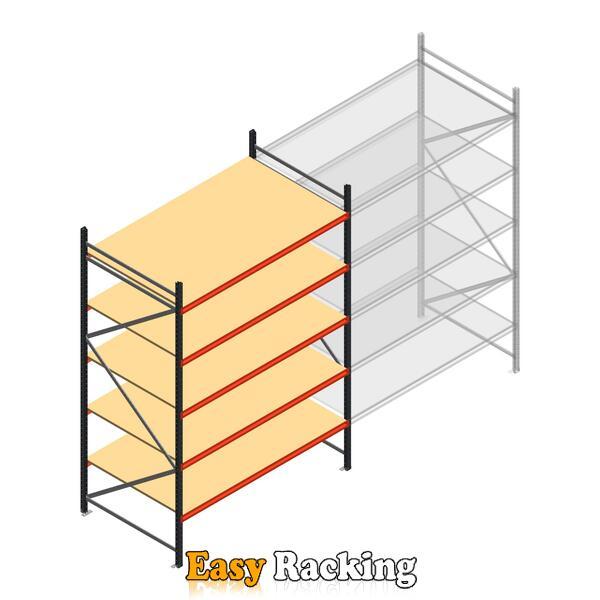 Beginsectie AR grootvakstelling 3000x1850x1200 - 5 niveaus