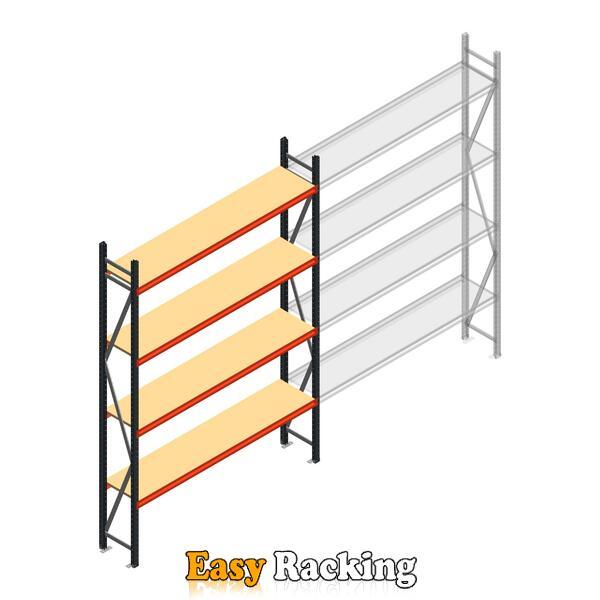 Beginsectie AR grootvakstelling 3000x1850x400 - 4 niveaus