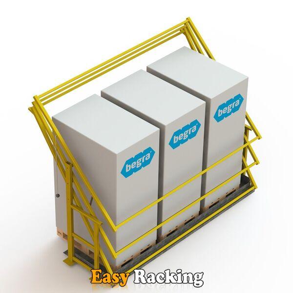 Kantelhek voor entresolvloer - S2 - RAL1023