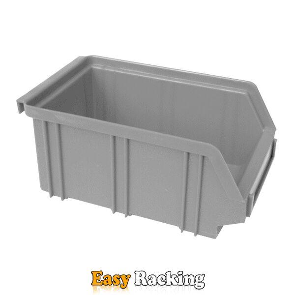 Kunststof stapelbak, Plastic magazijnbak A2 170x105x75 grijs