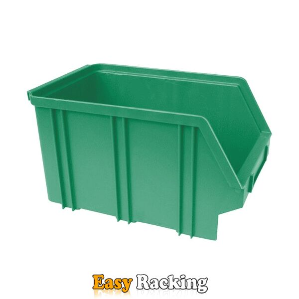Kunststof stapelbak, Plastic magazijnbak A3 240x150x135 groen