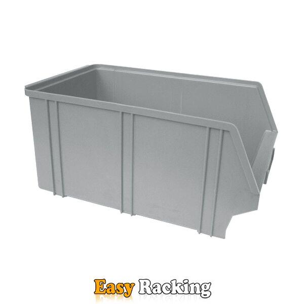 Kunststof stapelbak, Plastic magazijnbak A4 350x210x160 grijs