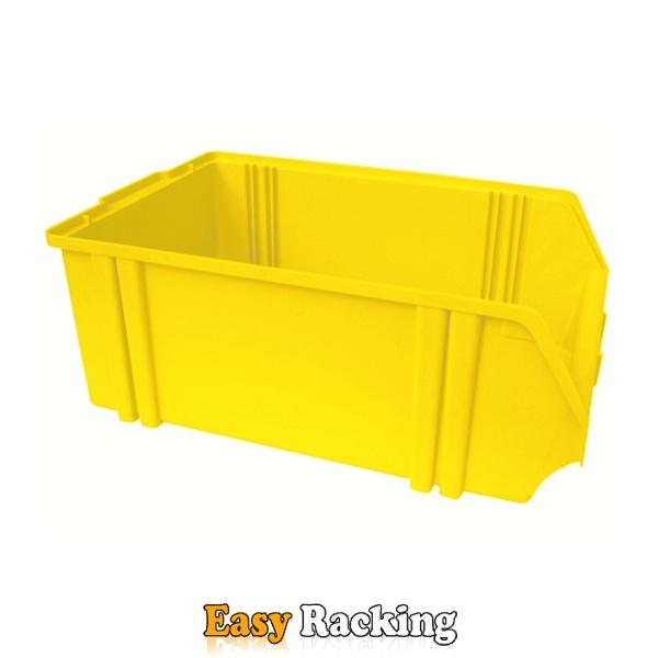 Kunststof stapelbak, Plastic magazijnbak A5 500x300x180 geel