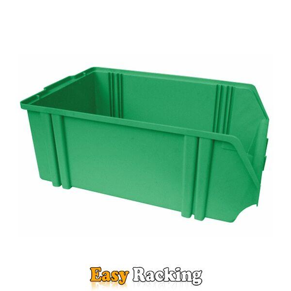 Kunststof stapelbak, Plastic magazijnbak A5 500x300x180 groen