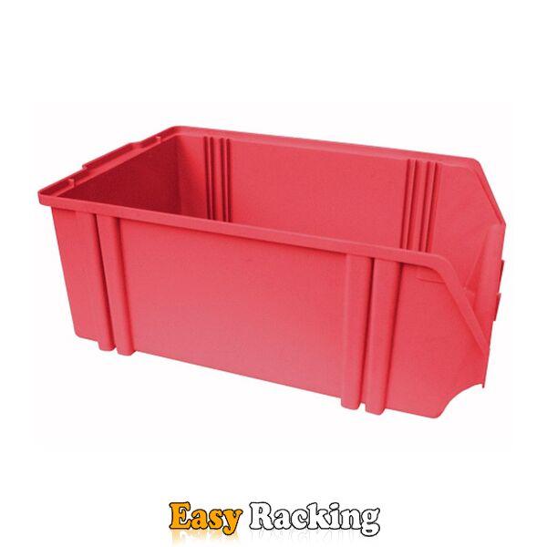 Kunststof stapelbak, Plastic magazijnbak A5 500x300x180 rood