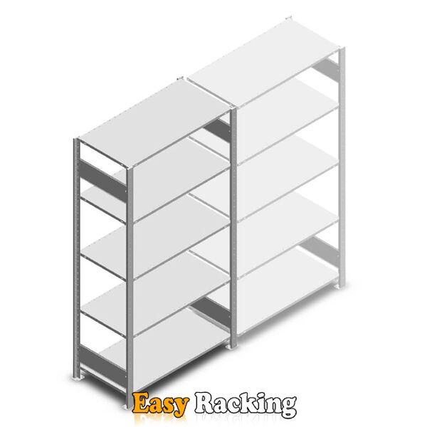 Legbordstelling Heavy Duty 2000x1000x500, 5 niveaus metaal verzinkt, 150 kg beginsectie