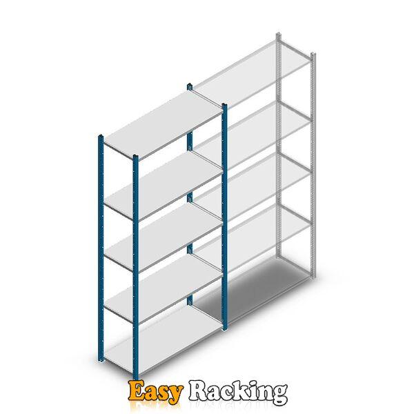 Legbordstelling Medium Duty 2200x1000x400, 5 niveaus metaal verzinkt, 90 kg beginsectie