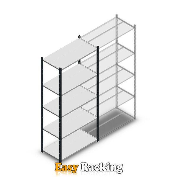 Legbordstelling Medium Duty 2200x1000x500, 5 niveaus metaal antraciet, 75 kg beginsectie
