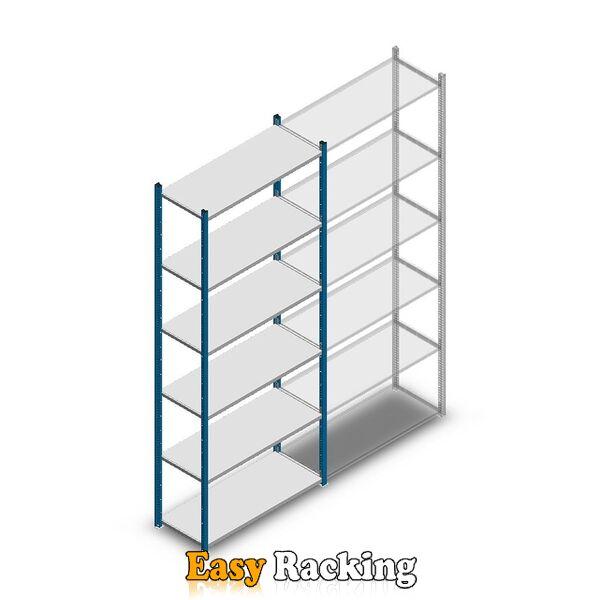 Legbordstelling Medium Duty 2500x1000x400, 6 niveaus metaal blauw, 90 kg beginsectie
