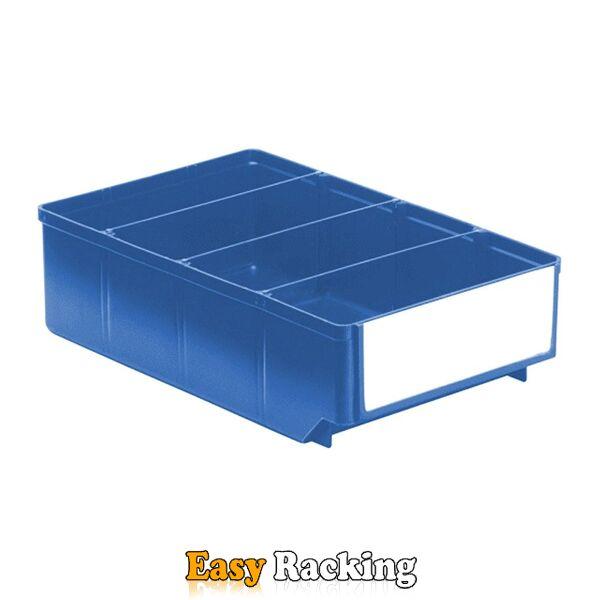 Magazijnbak, Magazijnstellingbak, Kunststof bak RK 300x186x83 blauw