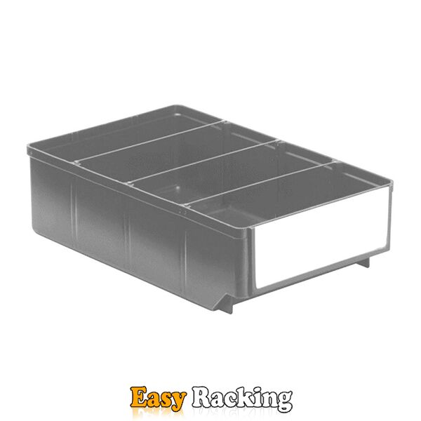 Magazijnbak, Magazijnstellingbak, Kunststof bak RK 300x186x83 grijs