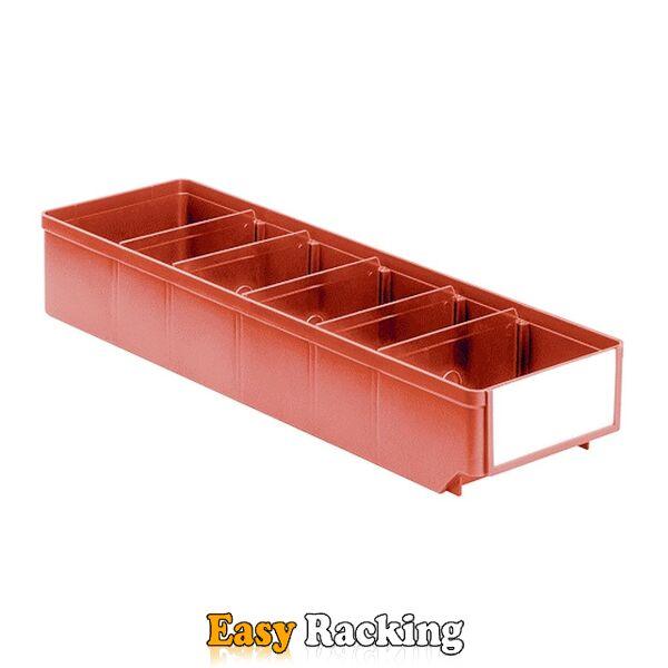 Magazijnbak, Magazijnstellingbak, Kunststof bak RK 500x152x83 rood