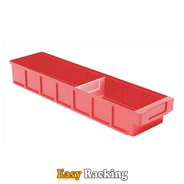 Plastic Bak, Magazijnbak, Magazijnstellingbak VKB 600x152x83 rood