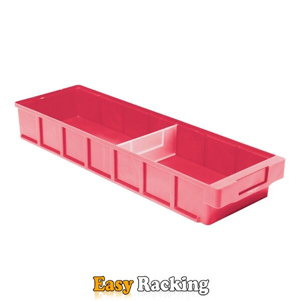 Plastic Bak, Magazijnbak, Magazijnstellingbak VKB 600x186x83 rood