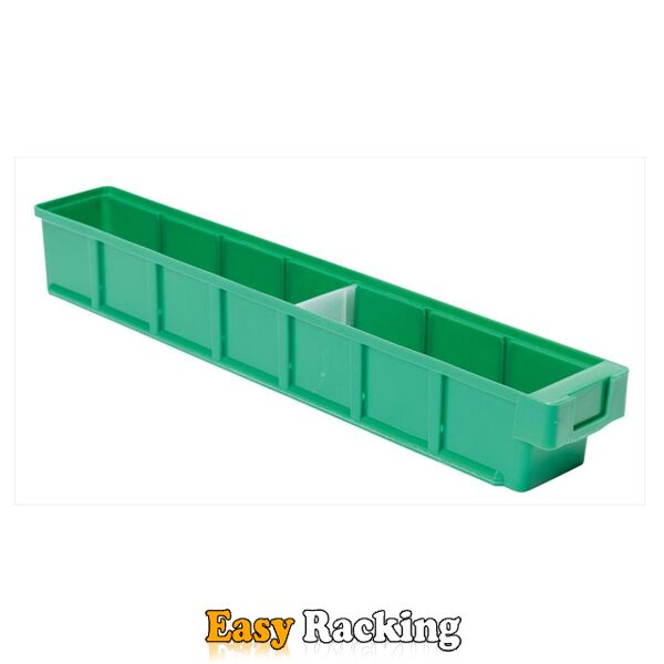 Plastic Bak, Magazijnbak, Magazijnstellingbak VKB 600x93x83 groen