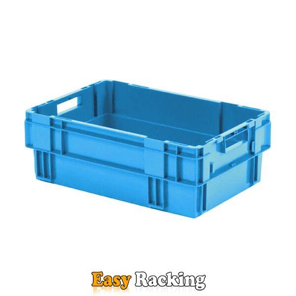 Stapelbare, nestbare transportkrat DTK0 600x400x210 blauw
