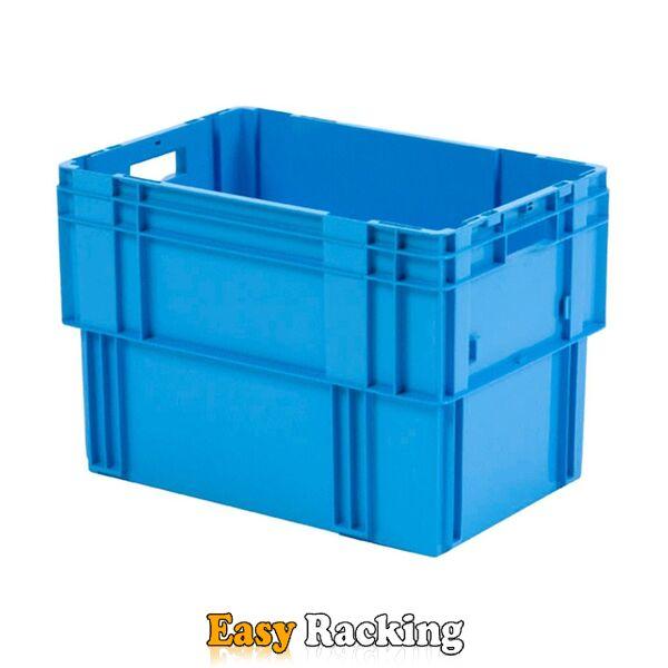 Stapelbare, nestbare transportkrat DTK0 600x400x420 blauw