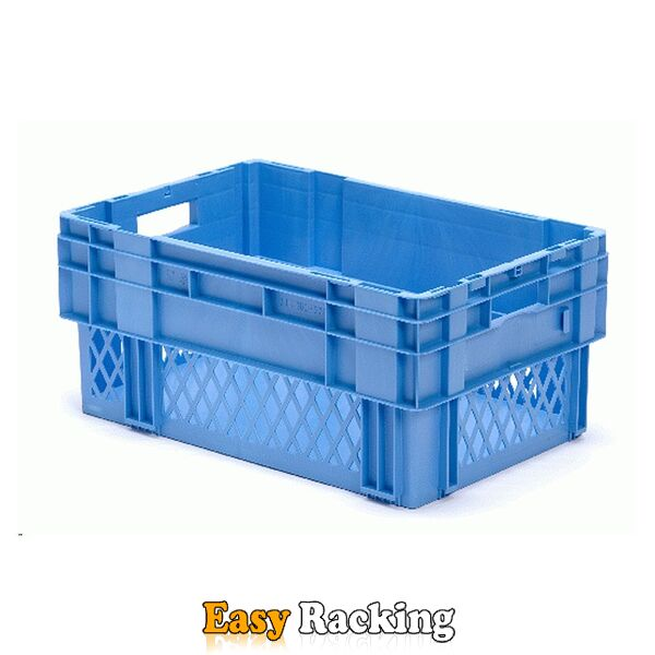 Stapelbare, nestbare transportkrat DTK1 600x400x270 blauw