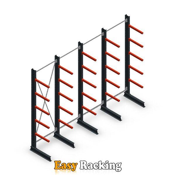 Voordeelrij medium draagarmstelling enkelzijdig 3000x4000 armlengte 600 mm - 5 niveaus