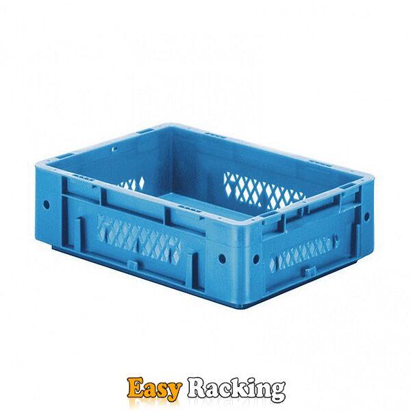 Zware transportkrat Euronorm plastic bak, krat VTK1 400x300x120 blauw