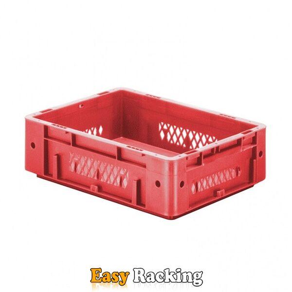 Zware transportkrat Euronorm plastic bak, krat VTK1 400x300x120 rood